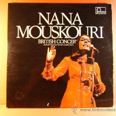 Discos de vinilo: BRITISH CONCERT AND THE ATHERIANS - NANA MOUSKOURI - FONTANA - MADE IN U.K - 1972 - DOBLE LP ... . Lote 38922041