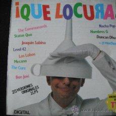 Discos de vinilo: RECOPILATORIO VINILO ¡QUE LOCURA! 2LP. Lote 38923939