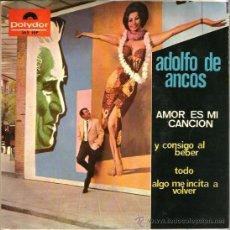 Discos de vinilo: EP ADOLFO DE ANCOS : CANCIONES DE CHARLIE CHAPLIN , JOHNNY HALLYDAY , GLYN ELLIS Y NINO FIDENCO . Lote 38924967