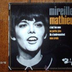 Discos de vinilo: MIREILLE MATHIEU - C´EST TON NOM + 3. Lote 38928268