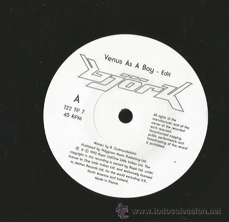 Discos de vinilo: SINGLE BJORK : VENUS AS A BOY ( EDIT ) + VENUS AS A BOY (7 DREAM MIX ) - Foto 3 - 38928551