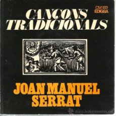 Discos de vinilo: EP JOAN MANUEL SERRAT : EL BALL DE LA CIVADA + 3 . Lote 38930531