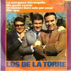 Discos de vinilo: EP LOS DE LA TORRE : LA MARIPOSA IMPARZZITA ( CONTIENE TEMAS DE MOGOL & BATTISTI ). Lote 38930666