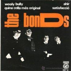 Discos de vinilo: EP THE BONDS : WOOLY BULLY (INCLUYE TEMA DE THE BEATLES Y TEMA DE ROLLING STONES, EN CATALAN ). Lote 38930785