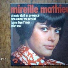 Discos de vinilo: MIREILLE MATHIEU - MON AMOUR ME REVIENT + 3. Lote 38934716