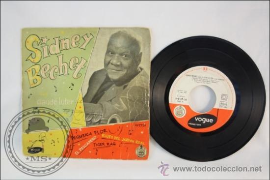 SINGLE - SIDNEY BECHET - PEQUEÑA FLOR - EDITADO HISPAVOX - 1959 - ESPAÑA (Música - Discos - Singles Vinilo - Solistas Españoles de los 50 y 60)