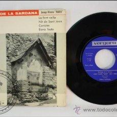 Discos de vinilo: SINGLE - JOSEP VICENS XAXU - ANTOLOGIA DE LA SARDANA - EDITADO VERGARA - 1963 - ESPAÑA. Lote 38936342