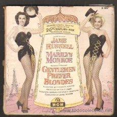 Discos de vinilo: SONGS SUNG BY J.RUSSELL AND M.MONROE IN HOWARD HAWKS GENTLEMEN PREFER BLONDES (CONTIENE 2 SINGLES). Lote 38937558