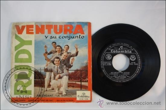 RUDY VENTURA Y SUS CONJUNTO - UNA CASETA - EDITADO COLUMBIA - 1960 - ESPAÑA (Música - Discos - Singles Vinilo - Grupos Españoles 50 y 60)