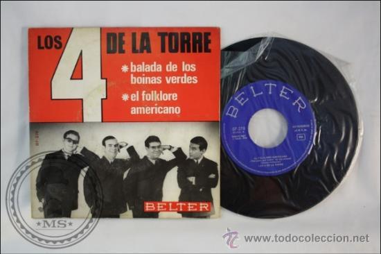 LOS 4 DE LA TORRE - BALADA DE LOS BOINAS VERDES - EDITADO BELTER - 1966 - ESPAÑA (Música - Discos - Singles Vinilo - Grupos Españoles 50 y 60)