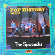 Discos de vinilo: THE SPOTNICKS 'POP HISTORY' DOBLE LP POLYDOR, 1971. CARPETA DOBLE.. Lote 38943766