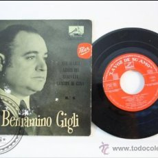 Discos de vinilo: BENIAMINO GIGLI - SERENATA - LA VOZ DE SU AMO - 1958 - ESPAÑA. Lote 38950635