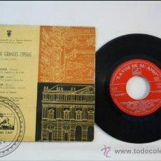 Discos de vinilo: COROS DE GRANDES OPERAS - NABUCCO - LA VOZ DE SU AMO - 1959 - ESPAÑA. Lote 38950691