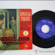 Discos de vinilo: GEORGES JOUVIN - SPECIAL TWIST - LA VOZ DE SU AMO - 1962 - ESPAÑA. Lote 38951221
