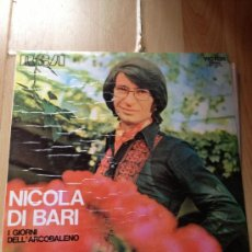 Discos de vinilo: LP-NICOLA DI BARI-I GIORNI DELL'ARCOBALENO VINILO BALADA ROMÁNTICA ITALIANA DE LOS 60 Y 70. Lote 38960624