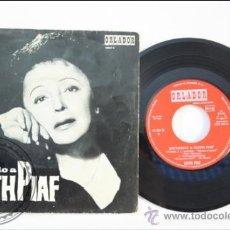 Discos de vinilo: RECUERDO A EDITH PIAF - LA VIE EN ROSE - SHERRY - ORLANDOR - 1966 - ESPAÑA. Lote 38952655