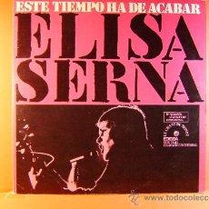 Discos de vinilo: ESTE TIEMPO HA DE ACABAR - ELISA SERNA - MANOLO SANLUCAR -LE CHANT DU MONDE EDIGSA - 1974- LP ... . Lote 38954194