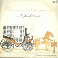 Discos de vinilo: THE MARDI GRAS SINGLE DEL SELLO HISPAVOX. Lote 38960024