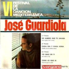 Discos de vinilo: EP JOSE GUARDIOLA : HE SABIDO QUE TE AMABA ( AUTOR: L. TENCO ) . Lote 38965450