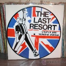 Discos de vinilo: THE LAST RESORT - A WAY OF LIFE; SKINHEAD ANTHEMS _ PICTURE DISC 2007, OI!. Lote 50037041