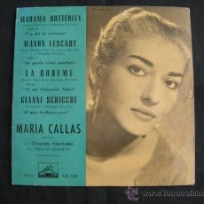 Discos de vinilo: EP MARIA CALLAS // MADAMA BUTTERFLE. Lote 38975048