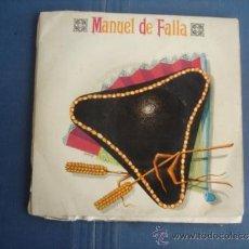 Discos de vinilo: MANUEL DE FALLA DANCES FROM THE THREE-CORNERED HAT. Lote 38977953