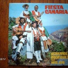 Discos de vinilo: HERMANOS RODRIGUEZ DE MILAN - FIESTA CANARIA - TEJINA, BELLA PRINCESA + 2. Lote 38998958