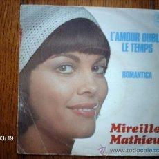 Discos de vinilo: MIREILLE MATHIEU - L´AMOUR OUBLIE LES TEMPS + ROMANTICA . Lote 39033255