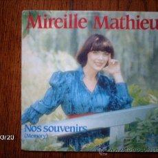 Discos de vinilo: MIREILLE MATHIEU - NOS SOUVENIRS ( MEMORY) + MOLIERE . Lote 39033268