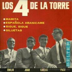 Discos de vinilo: LOS 4 DE LA TORRE EP SELLO BELTER AÑO 1965 EDITADO EN ESPAÑA. Lote 38984178