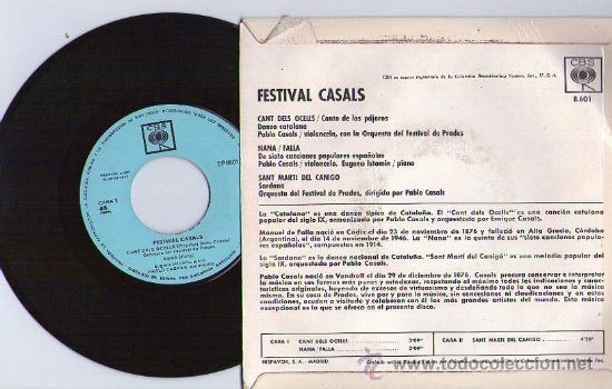 Discos de vinilo: PABLO CASALS**CANT DELS OCELLS**SANT MARTI DEL CANIGÓ**1967 - Foto 2 - 38986190