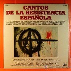 Discos de vinilo: 23 CANTOS DE LA RESISTENCIA ESPAÑOLA - CORO POPULAR JABALON -DIAL DISCOS NEVADA- 1977 - DOBLE LP .... Lote 38988433