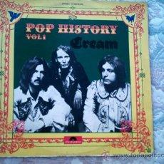 Discos de vinilo: VINILO CREAM (POP HISTORY VOL. 1)(DOBLE LP). Lote 38990112
