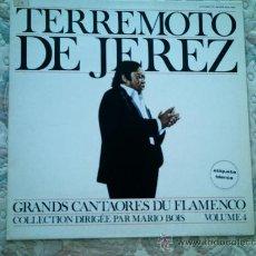 Discos de vinilo: VINILO TERREMOTO DE JEREZ (GRANDES CANTAORES DE FLAMENCO VOL. 4). Lote 38990158