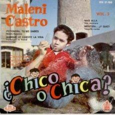 Discos de vinilo: MALENI CASTRO - DE LA PELICULA : ¿CHICO O CHICA ? - EP SPAIN 1962 VG++ / EX. Lote 38990529