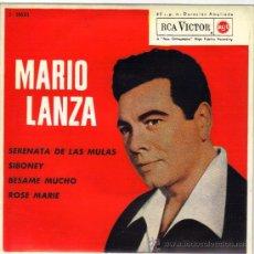 Discos de vinilo: MARIO LANZA EP SELLO RCA VICTOR EDITADO EN ESPAÑA AÑO 1962. Lote 38991411