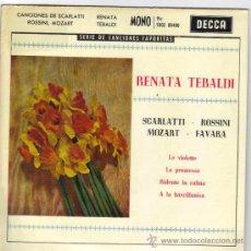 Discos de vinilo: RENATA TEBALDI EP SELLO DECCA EDITADO EN ESPAÑA AÑO 1962. Lote 38991888