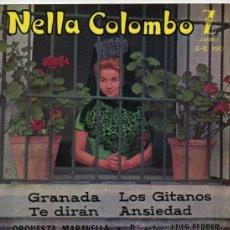 Discos de vinilo: NELLA COLOMBO, EP, GRANADA + 3, AÑO 1960. Lote 39002025