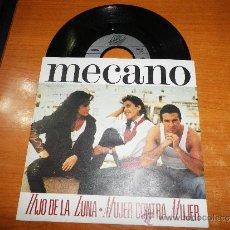 Discos de vinilo: MECANO HIJO DE LA LUNA MUJER CONTRA MUJER SINGLE VINILO EDITADO EN BELGICA PORTADA UNICA ANA TORROJA. Lote 39009177