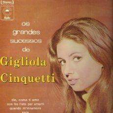 Discos de vinilo: GIGLIOLA CINQUETTI LP SELLO EPIC EDITADO EN BRASIL. Lote 39011102
