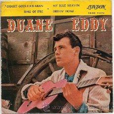Discos de vinilo: DUANE EDDY 7' EP, GIDGET GOES HAWAIIAN +3, SPANISH EDIT. Lote 39016869