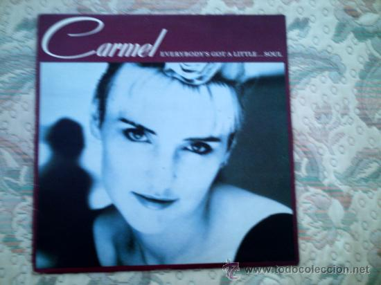 VINILO CARMEL: EVERYBODY´S GOT A LITTLE...SOUL (Música - Discos - LP Vinilo - Pop - Rock - New Wave Extranjero de los 80)