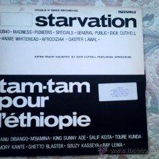 Discos de vinilo: VINILO STARVATION Y TAM-TAM POUR LÉTHIOPIE (MAXI SINGLE 45 R.P.M.). Lote 39017796