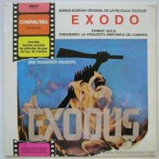 Discos de vinilo: EXODO. MUSICA DE ERNEST GOLD. SINFONICA DE LONDRES. CINEMATRES (RCA) 1981. SIN ESCUCHAR. Lote 39023179