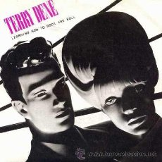 Discos de vinilo: TERRY DENE ··· LEARNING HOW TO ROCK AND ROLL / SOSPECHA - (SINGLE 45 RPM). Lote 39023188
