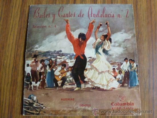 BAILES Y CANTOS DE ANDALUCIA Nº 2 (Música - Discos - Singles Vinilo - Flamenco, Canción española y Cuplé)