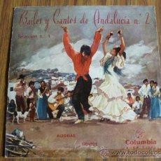 Discos de vinilo: BAILES Y CANTOS DE ANDALUCIA Nº 2. Lote 39033050