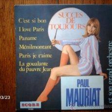 Discos de vinilo: PAUL MAURIAT ET SON GRAND ORCHESTRE - SUCCES DE TOUJOURS - C´EST SI BON + 5. Lote 39042410