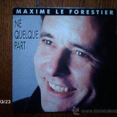 Discos de vinilo: MAXIME LE FORESTIER - NE QUELQUE PART + LES MOTS ET LES GESTES . Lote 39042640