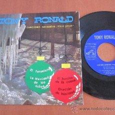 Discos de vinilo: TONY RONALD EP 45 RPM CANCIONES NAVIDEÑAS LA VOZ DE SU AMO ESPAÑA 1966. Lote 39035748